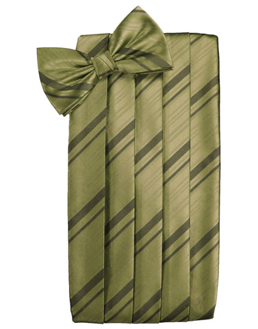 Fern Striped Satin Cummerbund Set