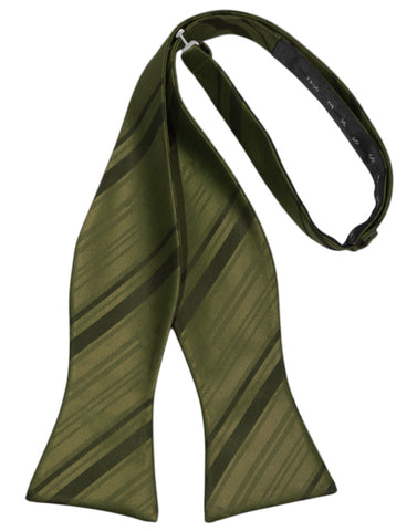Fern Striped Satin Self-Tie Formal Bow Tie