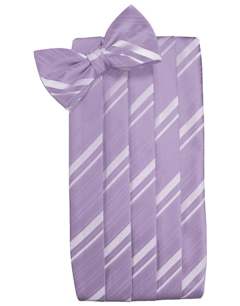 Heather Striped Satin Cummerbund Set