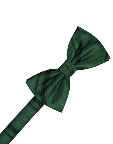 Holly Striped Satin Formal Bow Tie