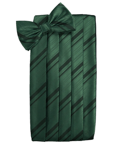 Holly Striped Satin Cummerbund Set