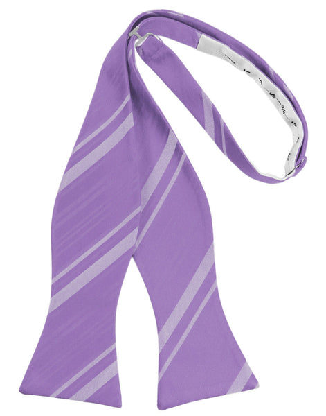 Wisteria Striped Satin Self-Tie Formal Bow Tie