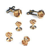 Gold Love Knots Cufflinks and Studs - Style #CP3
