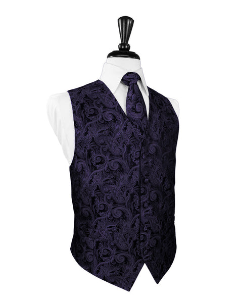 Amethyst Tapestry Tuxedo Vest and Tie Set