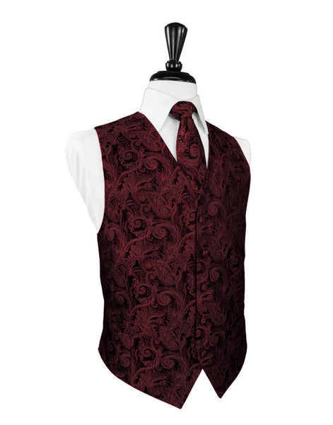 Apple Tapestry Tuxedo Vest and Tie Set
