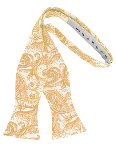 Apricot Tapestry Self-Tie Formal Bow Tie