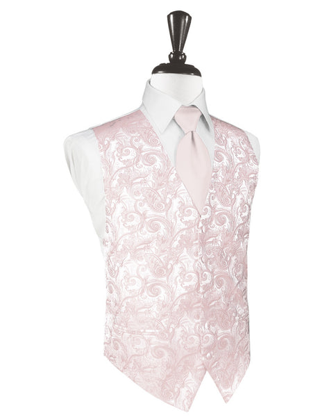 Blush Tapestry Tuxedo Vest and Tie Set