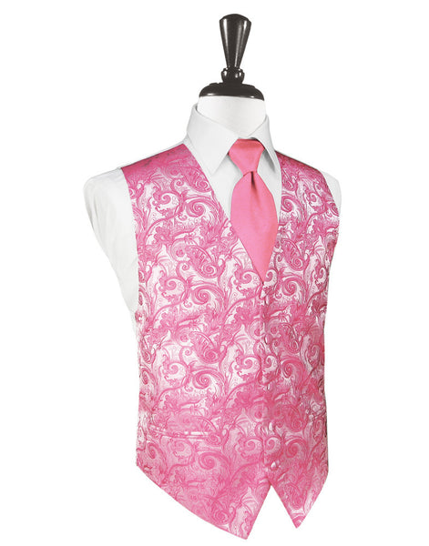 Bubblegum Tapestry Tuxedo Vest and Tie Set