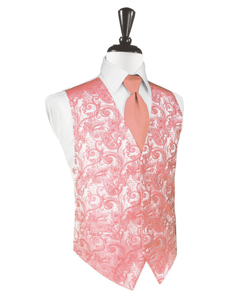 Coral Reef Tapestry Tuxedo Vest and Tie Set