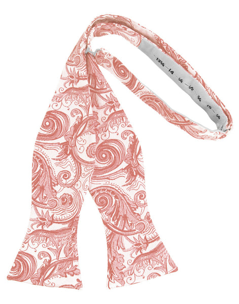 Coral Tapestry Self-Tie Formal Bow Tie