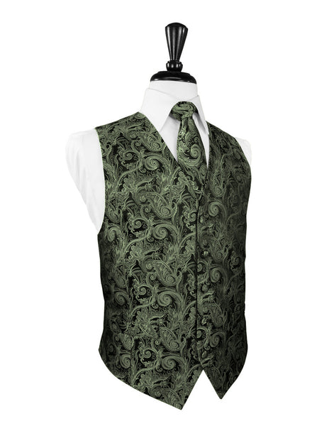 Fern Tapestry Tuxedo Vest and Tie Set