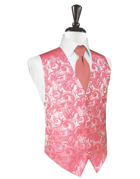 Guava Tapestry Tuxedo Vest and Tie Set