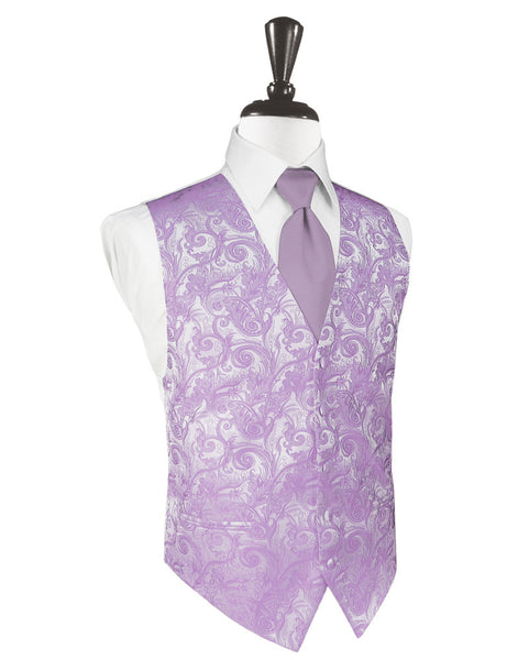 Heather Tapestry Tuxedo Vest and Tie Set