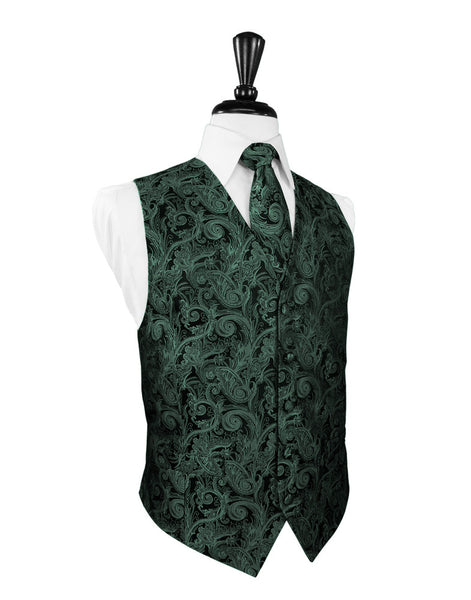 Holly Tapestry Tuxedo Vest and Tie Set