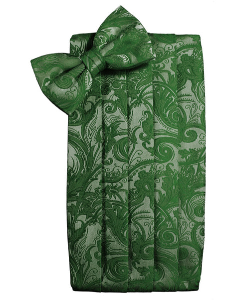 Hunter Green Tapestry Style Cummerbund Set
