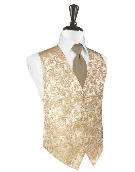 Latte Tapestry Tuxedo Vest and Tie Set