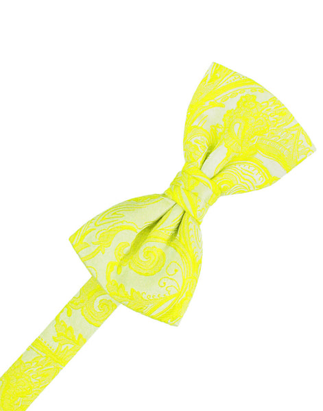 Lemon Tapestry Formal Bow Tie
