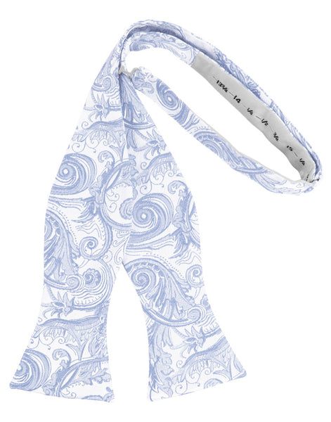 Light Blue Tapestry Self-Tie Formal Bow Tie