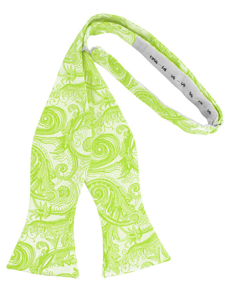 Lime Tapestry Self-Tie Formal Bow Tie