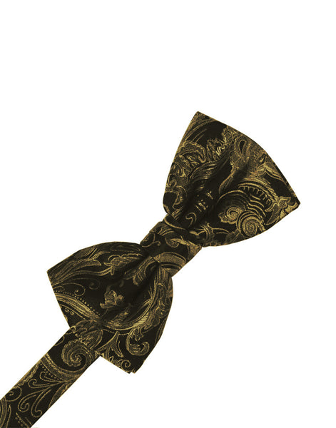 New Gold Tapestry Formal Bow Tie