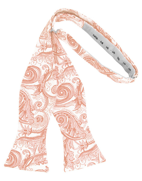 Peach Tapestry Self-Tie Formal Bow Tie