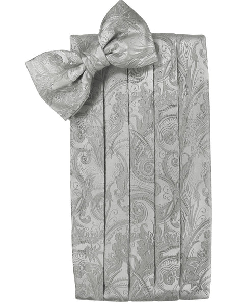 "Platinum Tapestry Cummerbund Set in ""Premier"" Satin"