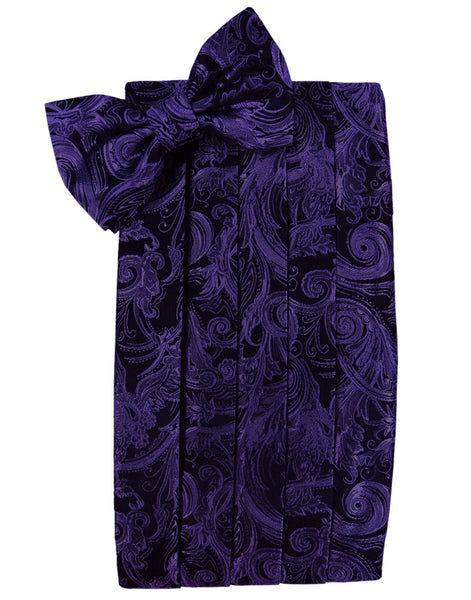 "Purple Tapestry Cummerbund Set in ""Premier"" Satin"
