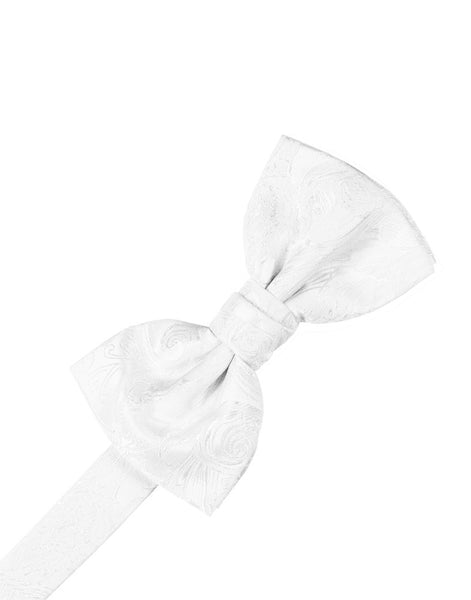White Tapestry Silk Formal Bow Tie