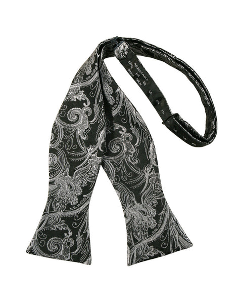 Silver Tapestry Self-Tie Formal Bow Tie