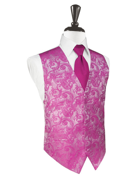 Watermelon Tapestry Tuxedo Vest and Tie Set