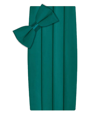 Poly/Satin Cummerbund and Bow Tie Set - Teal