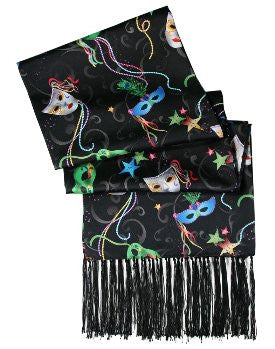 Mardi Gras Theme Formal Scarf