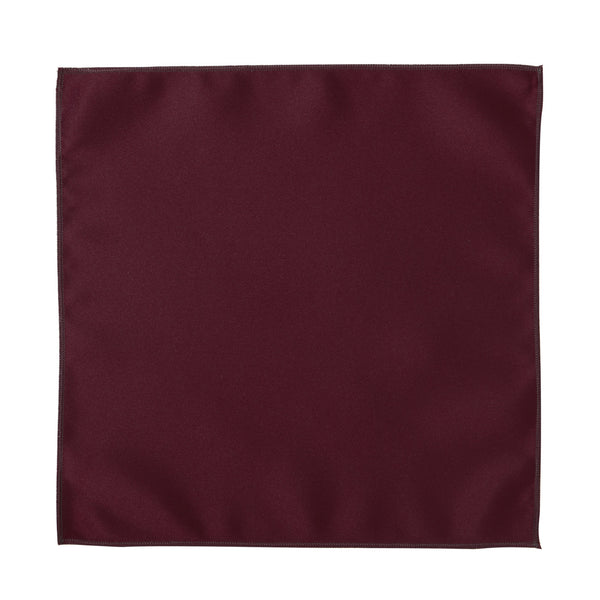 Deluxe Satin Formal Pocket Square (Burgundy)
