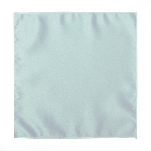 Deluxe Satin Formal Pocket Square (Light Blue)