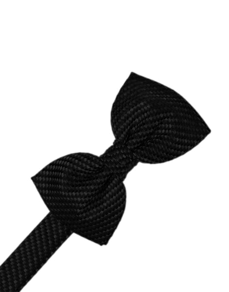 Black Venetian Formal Bow Tie