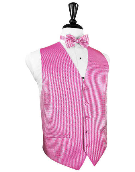 Bubblegum Venetian Tuxedo Vest and Tie Set