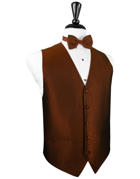 Cinnamon Venetian Tuxedo Vest and Tie Set