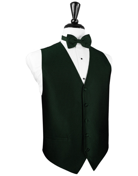 Hunter Green Venetian Tuxedo Vest and Tie Set