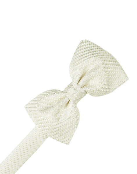 Ivory Venetian Formal Bow Tie