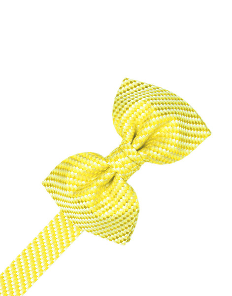 Lemon Venetian Formal Bow Tie