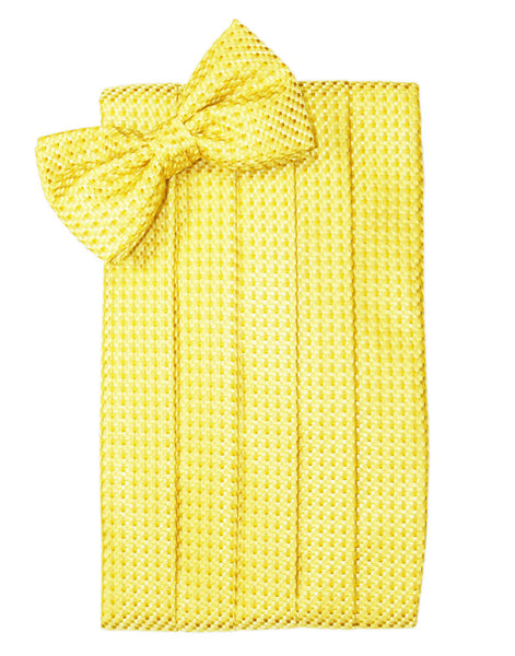 Lemon Venetian Cummerbund Set