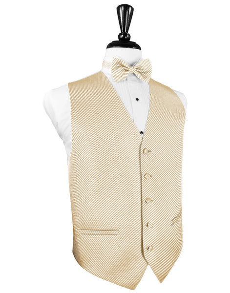 Light Champagne Venetian Tuxedo Vest and Tie Set