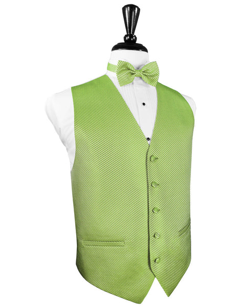 Lime Green Venetian Tuxedo Vest and Tie Set