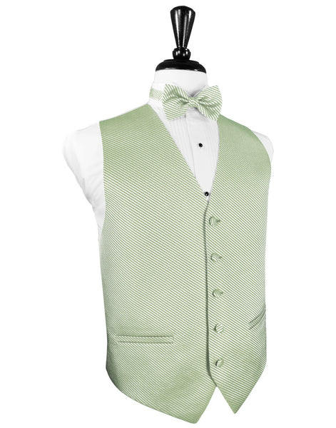 Mint Green Venetian Tuxedo Vest and Tie Set