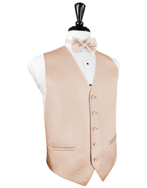 Peach Venetian Tuxedo Vest and Tie Set