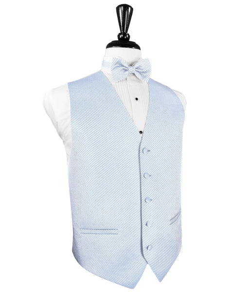 Powder Blue Venetian Tuxedo Vest and Tie Set