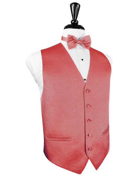 Red Venetian Tuxedo Vest and Tie Set