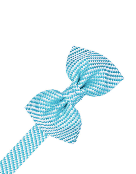 Turquoise Venetian Formal Bow Tie