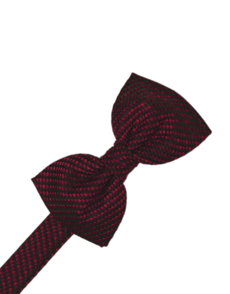 Wine Venetian Formal Bow Tie