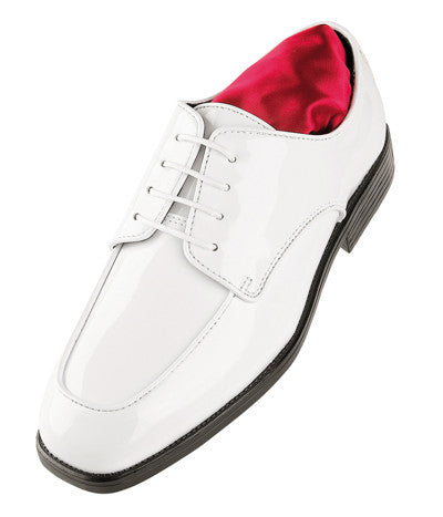 White Celebration Style Tuxedo Shoes